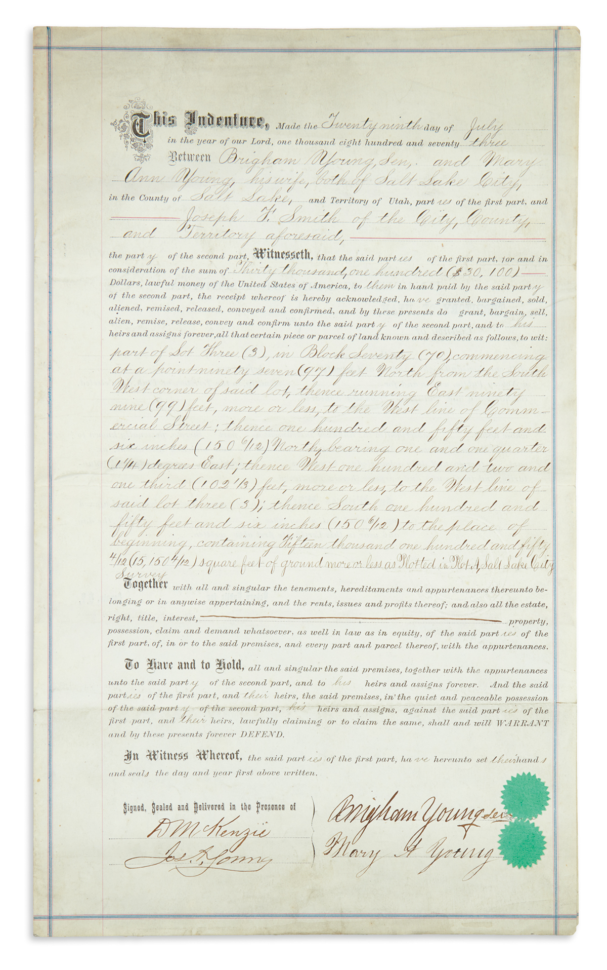 YOUNG-BRIGHAM-Partly-printed-Document-Signed-deed-of-sale-tr