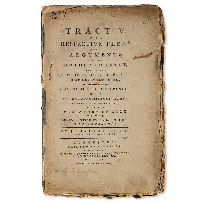 (AMERICAN-REVOLUTION--1775)-Josiah-Tucker-Tract-V-The-Respec