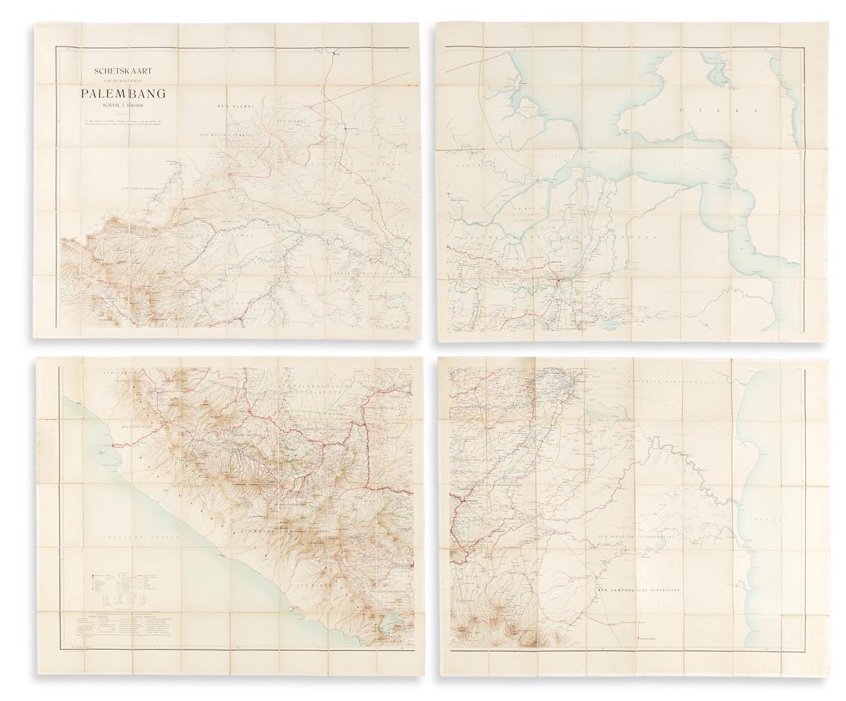 (INDONESIA.) Dutch East Indies Topographic Department. Schetskaart van de Residentie Palembang.