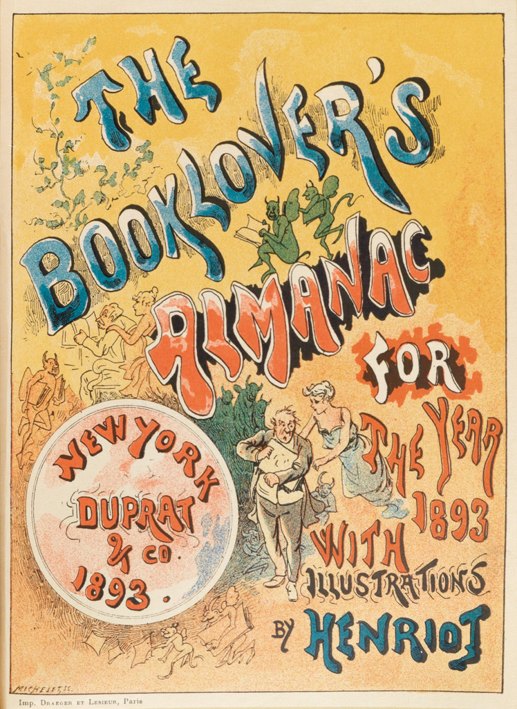 (BOOK ARTS.) The Book-Lovers Almanac for the Year 1893.