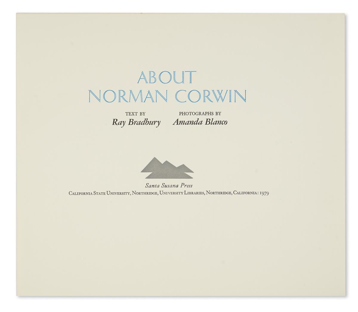 BRADBURY-RAY-About-Norman-Corwin