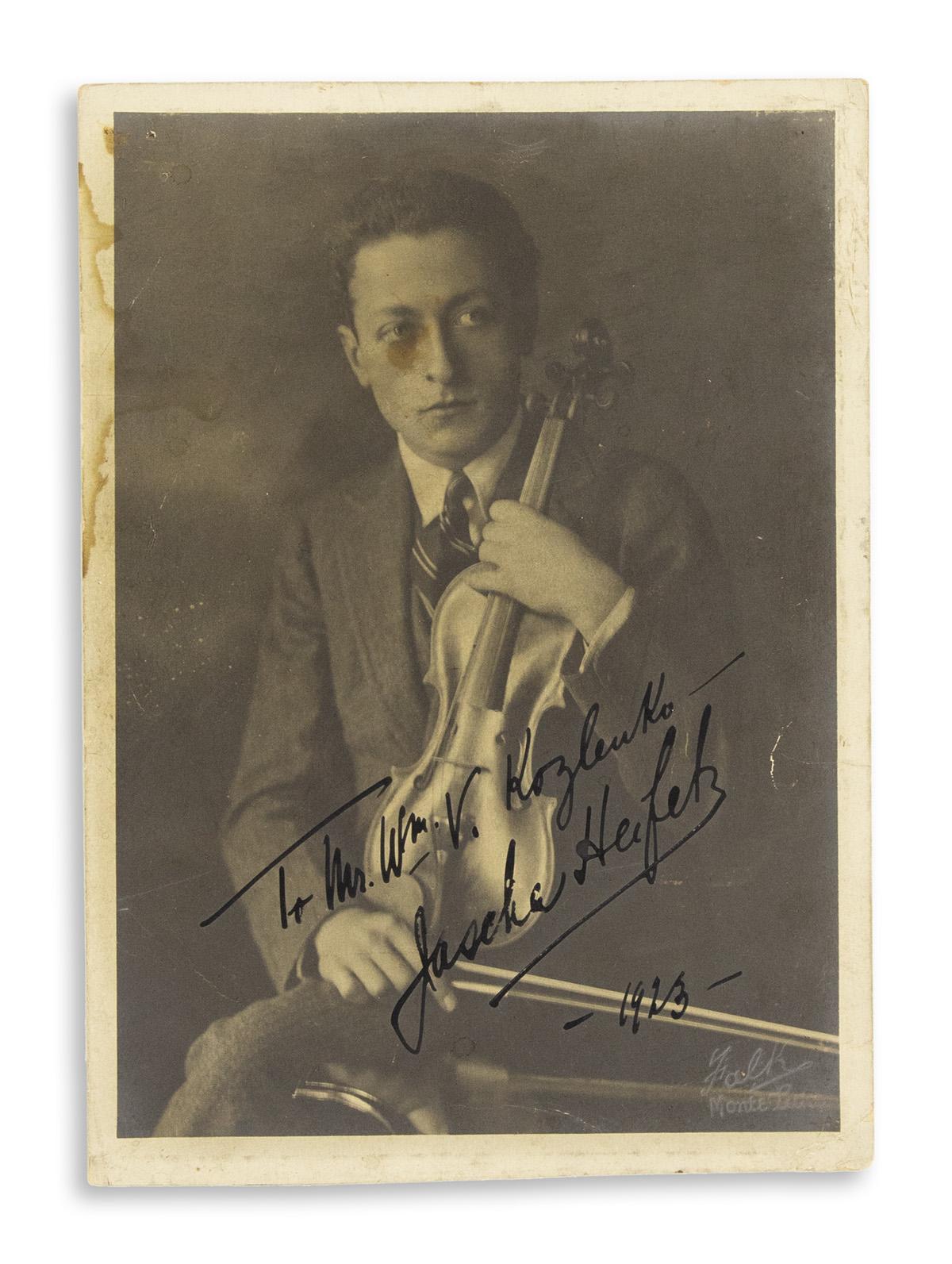 HEIFETZ-JASCHA-Photograph-Signed-and-Inscribed-To-Mr-Wm-V-Ko