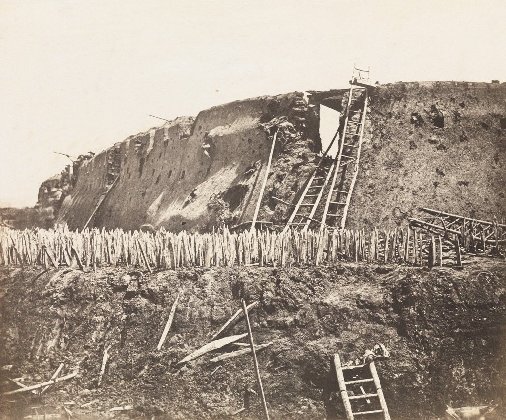 FELICE BEATO (1832-1909) A series of three photographs taken inside Taku Fort, Peking (Beijing) after its capture by Anglo-French troo