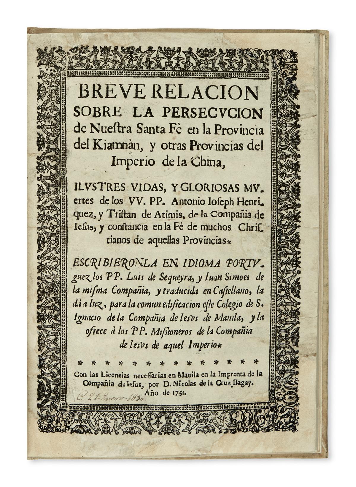 PHILIPPINES--SEQUEIRA-and-SIMÕES-S-J-Breve-Relación-sobre-la