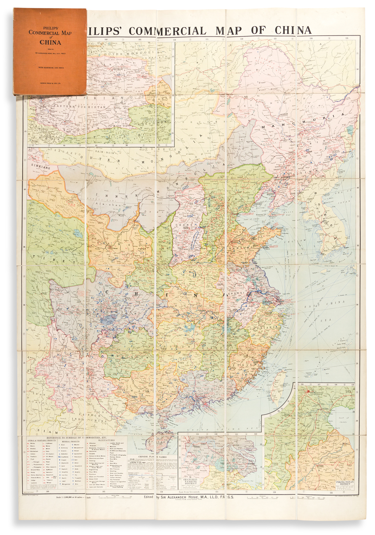 (CHINA.) George Philip & Son. Philips Commercial Map of China.