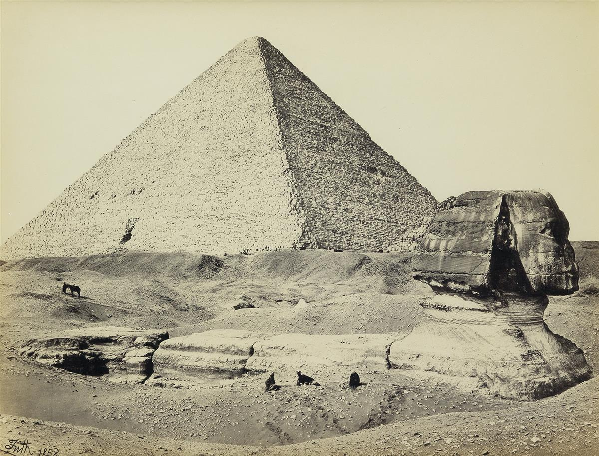 FRANCIS FRITH (1822-1898) The Great Pyramid and the Sphinx.