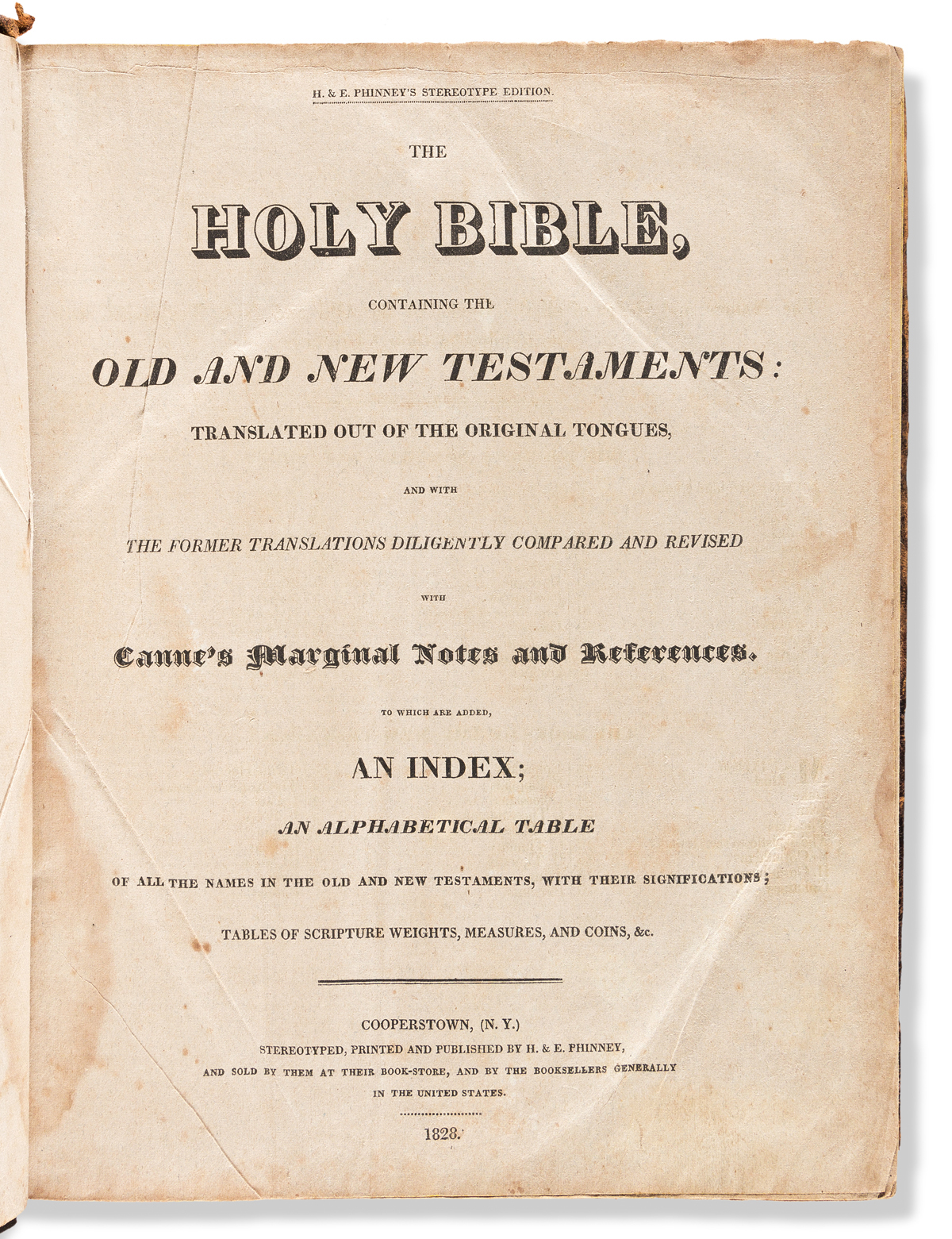 (MORMONS.) The Holy Bible, Containing the Old and New Testaments.