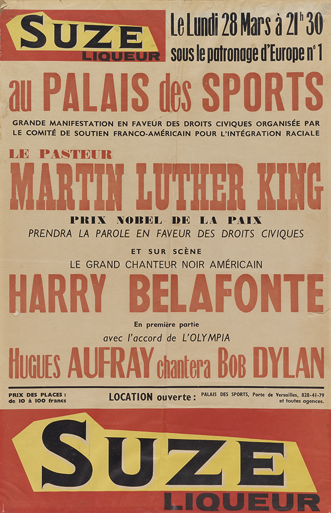 (KING-MARTIN-LUTHER-JR)-Poster-for-a-French-appearance-by-Dr