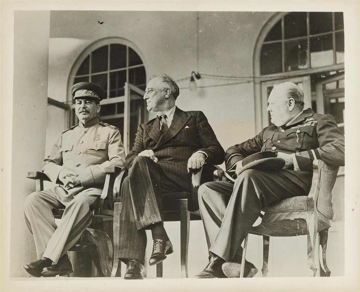 (WWII-SUMMITS)-A-collection-of-8-press-prints-related-to-the