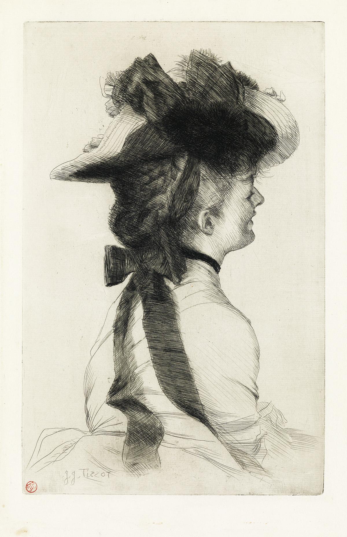 JAMES JACQUES TISSOT Le Chapeau Rubens.