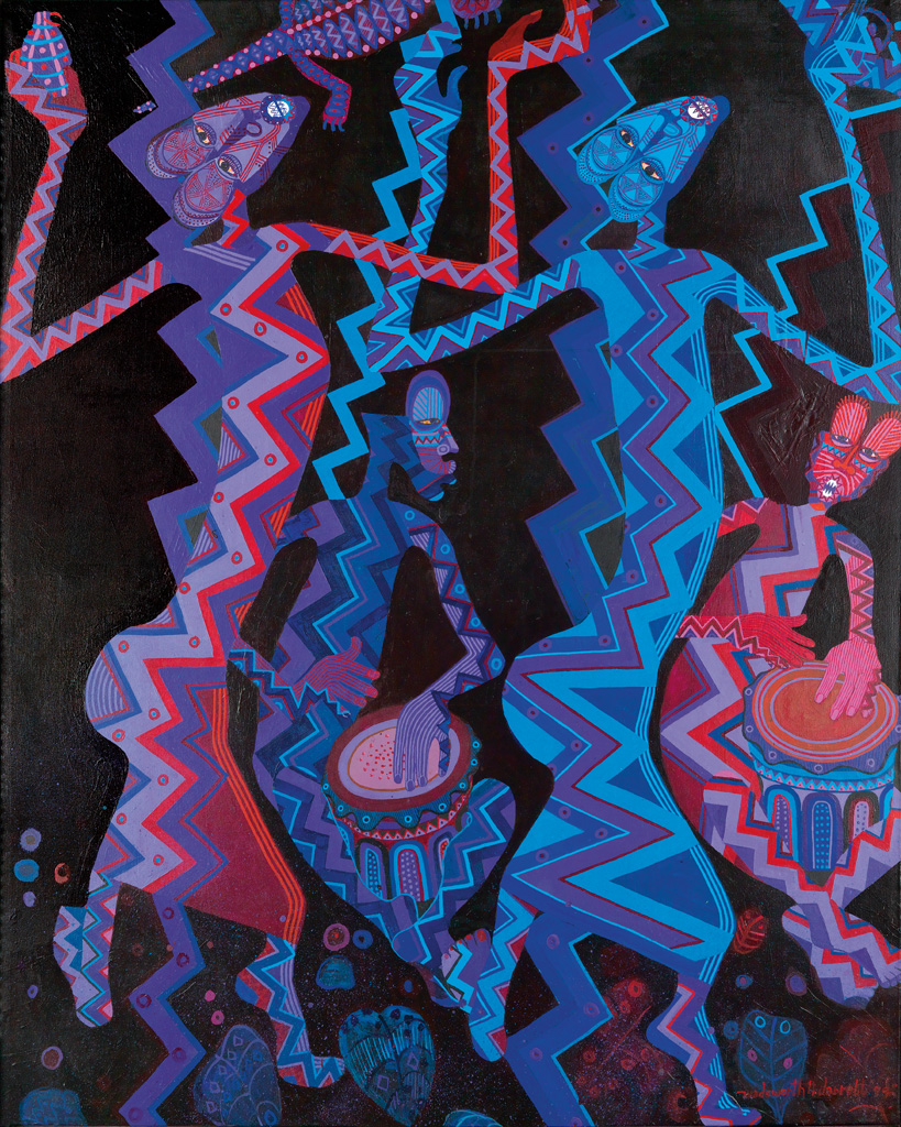 WADSWORTH JARRELL (1929 -   ) Festival #4.