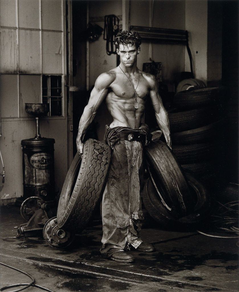 HERB RITTS (1952-2002) The Body Shop, Los Angeles, California (Fred with Tires).