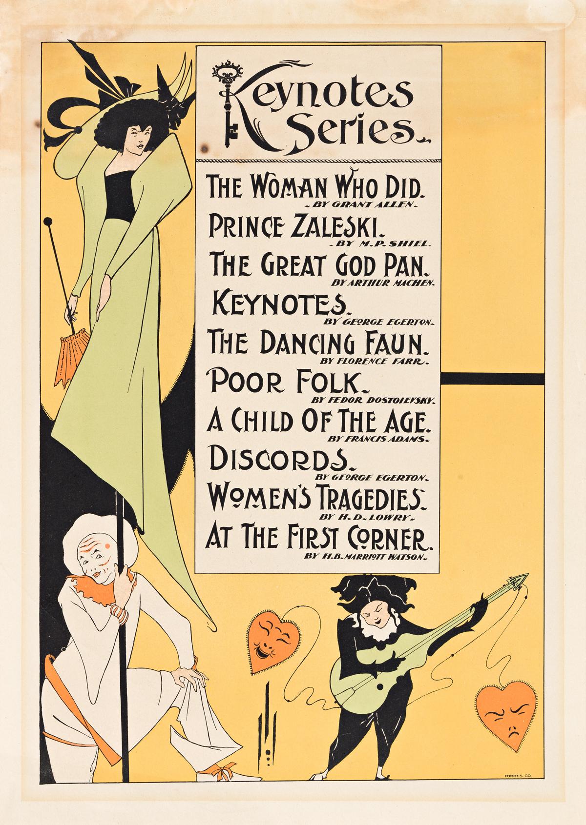 AUBREY BEARDSLEY (1872-1898).  KEYNOTE SERIES. 1896. 19x13 inches, 48x34 cm. Forbes Co., [Boston].