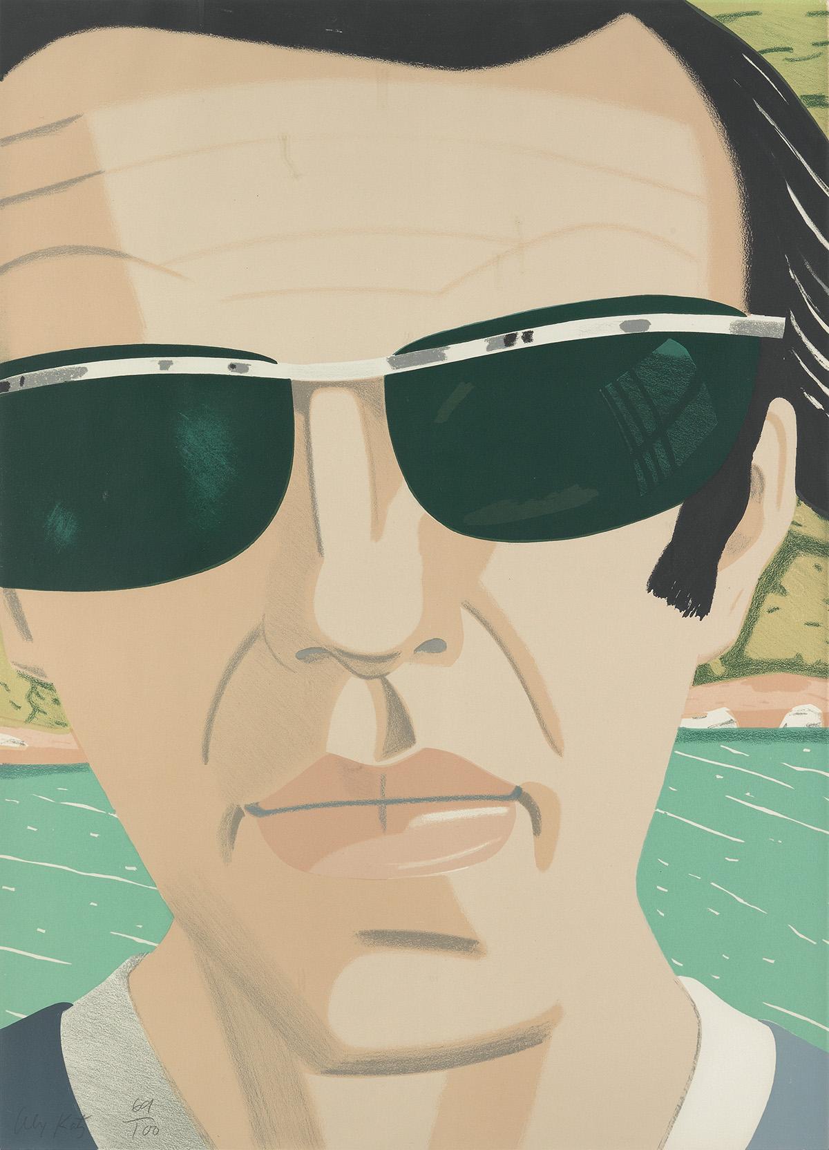 ALEX-KATZ-Self-Portrait-with-Sunglasses