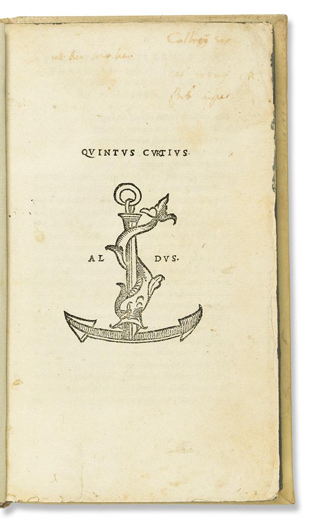 CURTIUS RUFUS, QUINTUS. [De rebus gestis Alexandri Magni].  1520