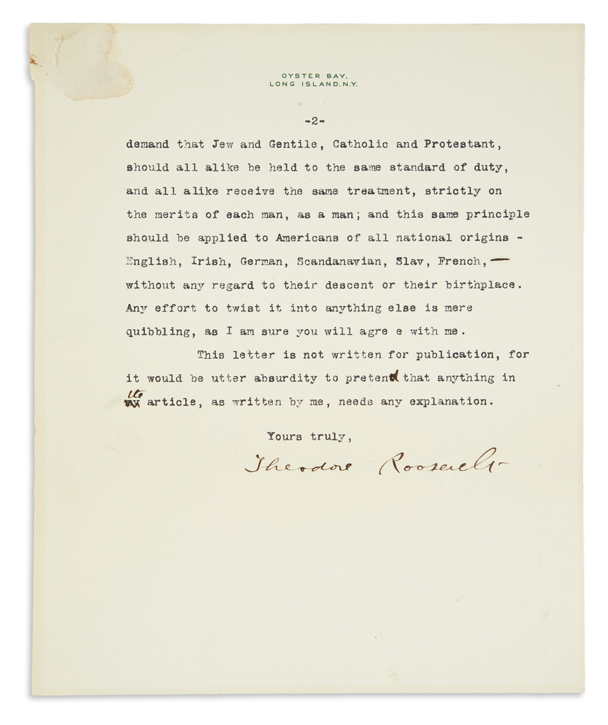 ROOSEVELT-THEODORE-Typed-Letter-Signed-to-journalist-and-aut