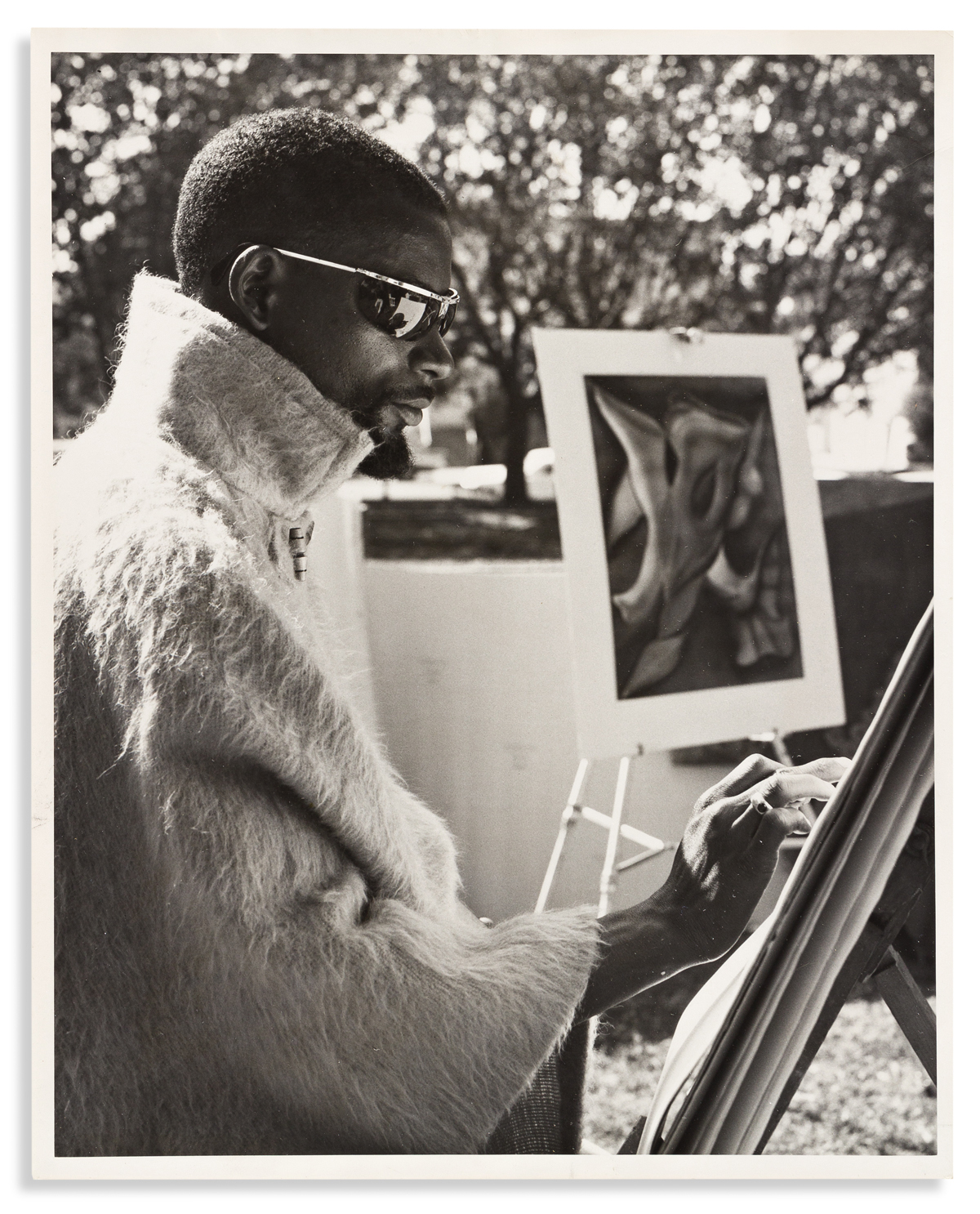 (ART.) Folder of publicity materials on Black artists compiled by a California art critic.