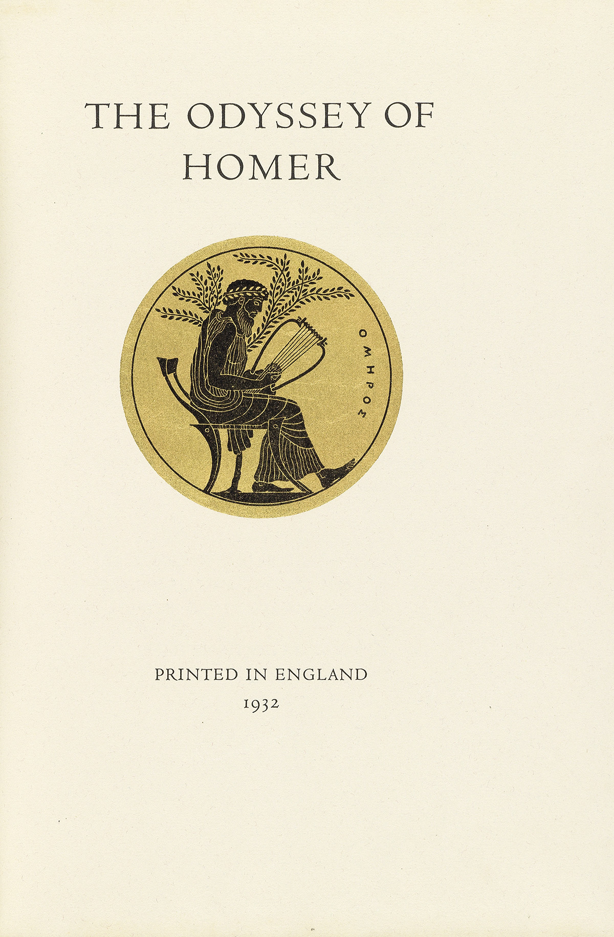 (ROGERS-BRUCE--FINE-PRESS)-Homer-The-Odyssey