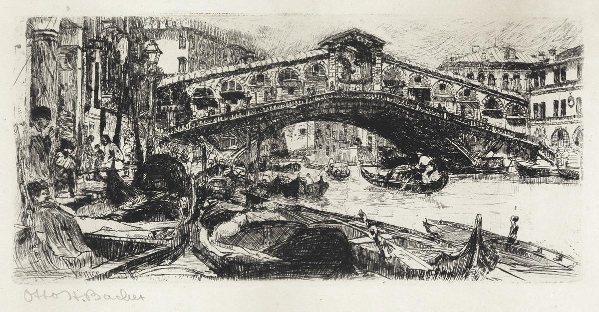 OTTO-BACHER-The-Rialto-Bridge-and-Grand-Canal-Venice