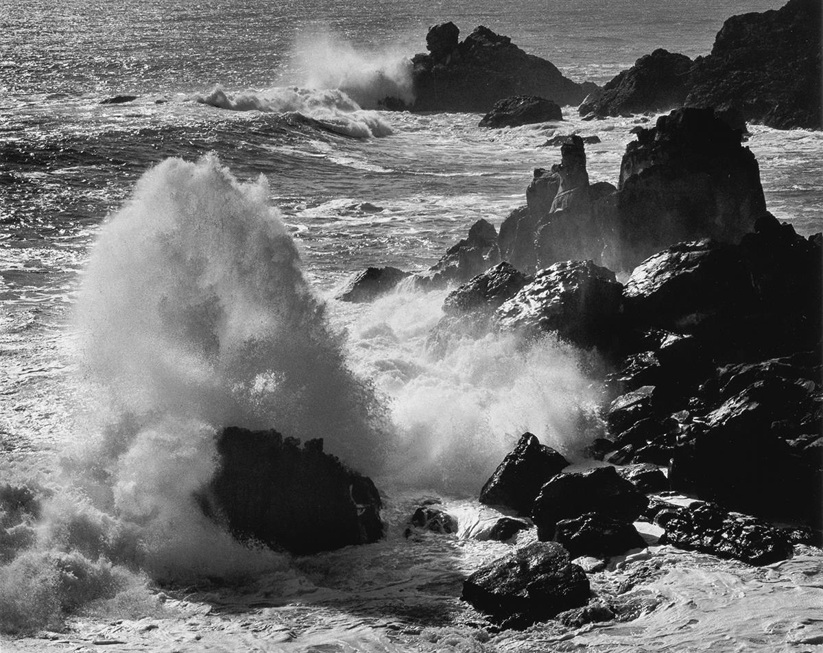 ANSEL-ADAMS-(1902-1984)-Storm-Surf-Timber-Cove-California