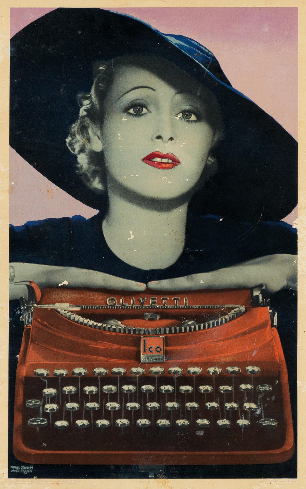 XANTI-SCHAWINSKY-(1904-1979)-OLIVETTI-Window-card-1934-21x14