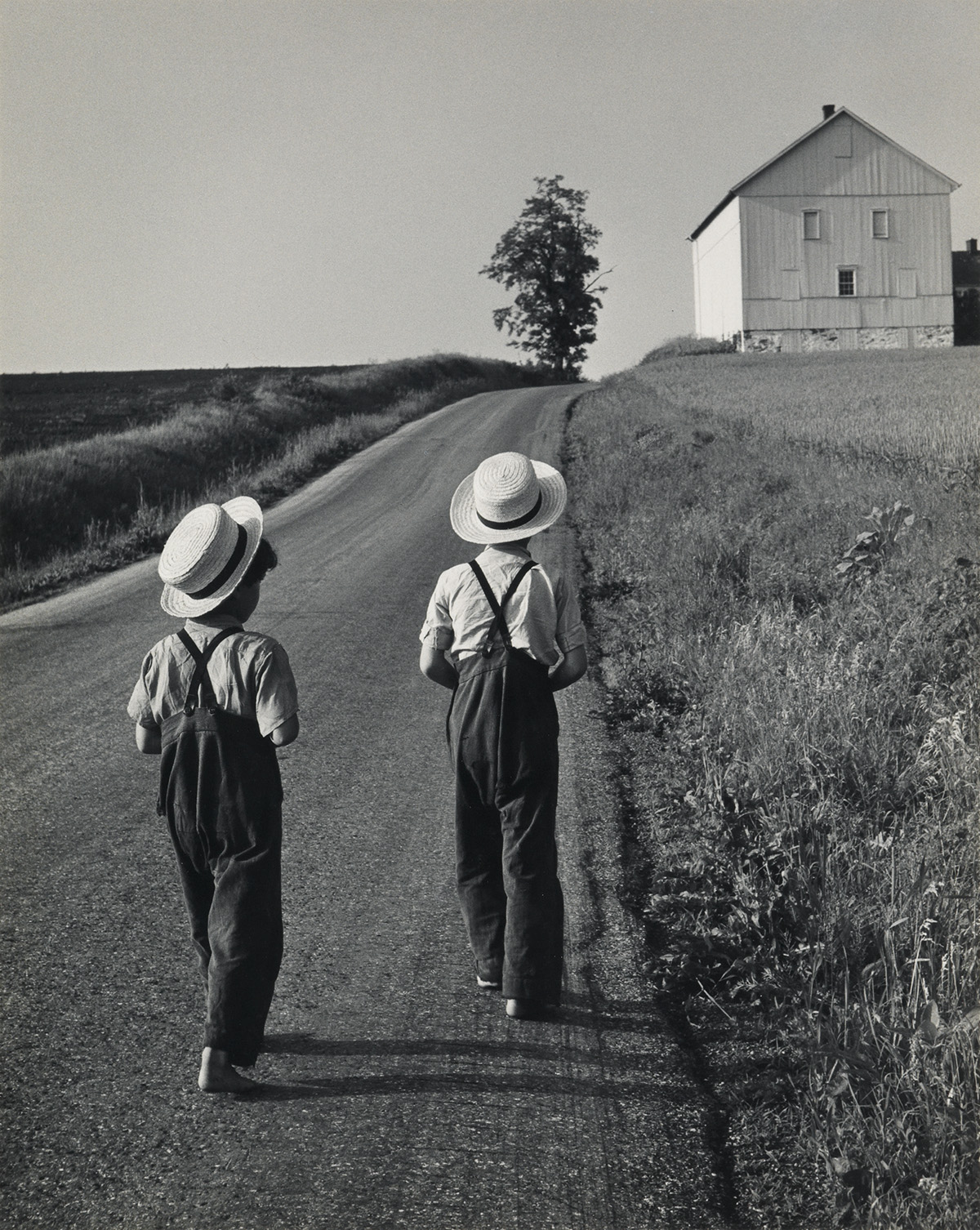 GEORGE-A-TICE-(1938--)-Two-Amish-Boys-Lancaster-PA