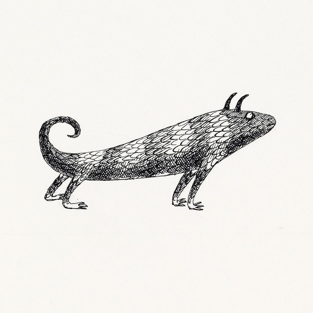 EDWARD GOREY. Group of 10 smaller illustrations from The Monster Den.