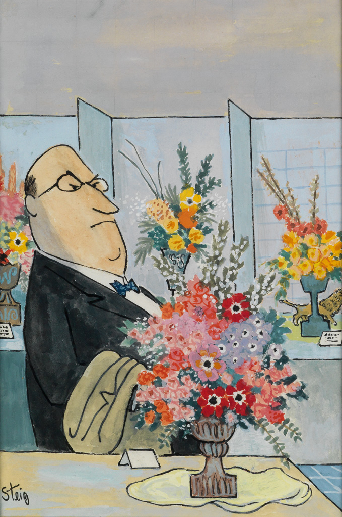 (THE NEW YORKER.)  WILLIAM STEIG. The Connoisseur.
