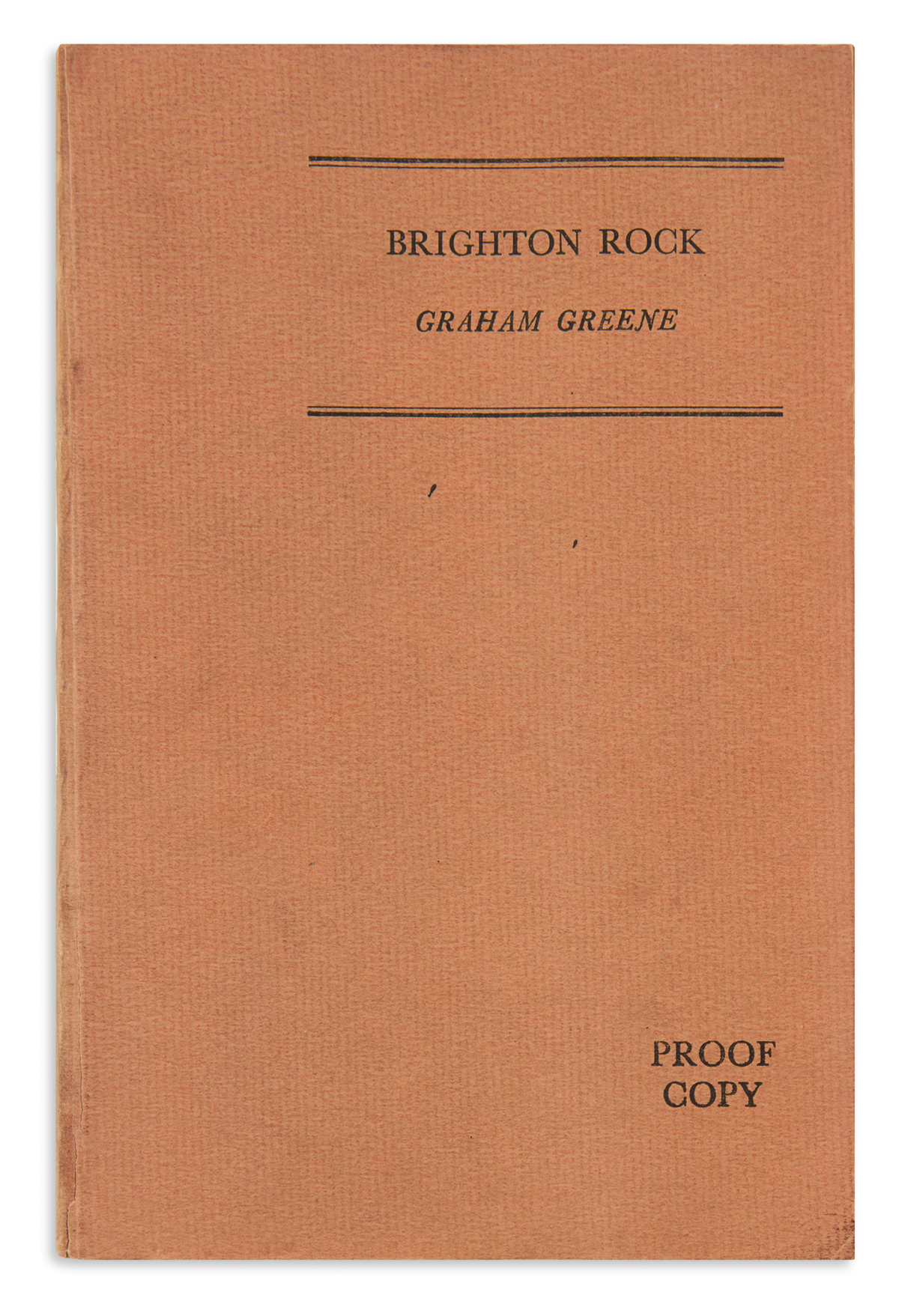 GREENE, GRAHAM. Brighton Rock.