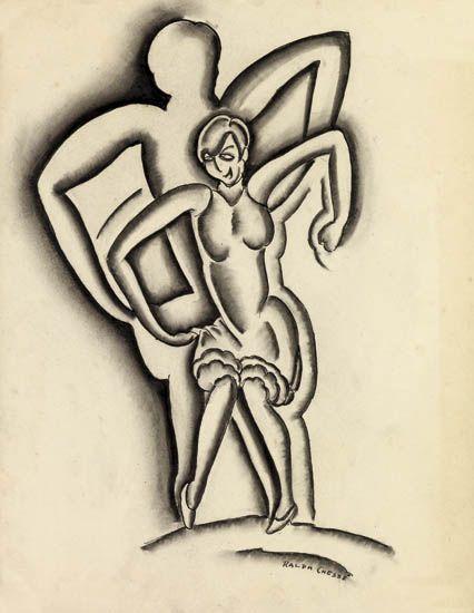 RALPH-A-CHESSÉ-(1900---1991)-Untitled-(Flapper)