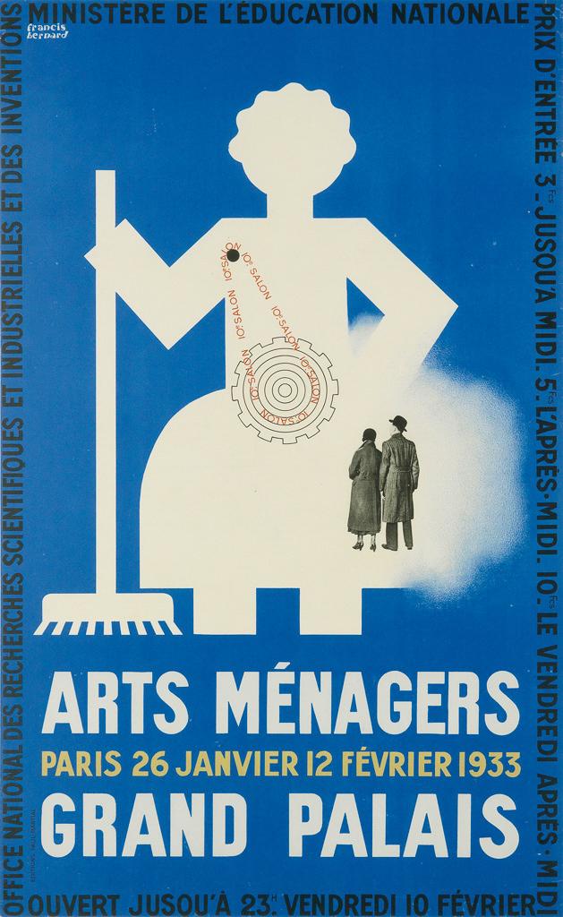 FRANCIS-BERNARD-(1900-1979)-ARTS-MÉNAGERS--GRAND-PALAIS-1933-38x23-inches-96x59-cm-Paul-Martial-[Paris]