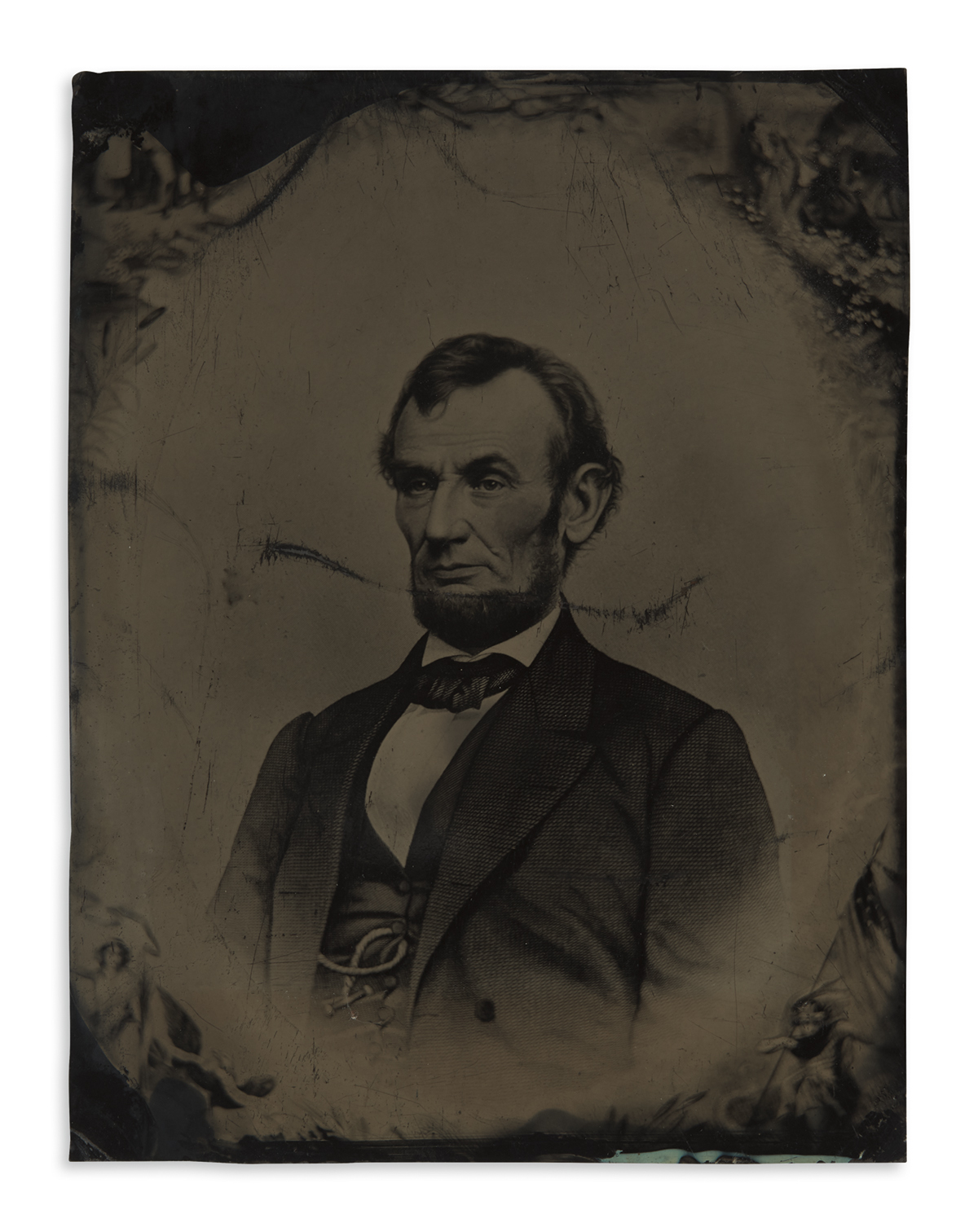 (PHOTOGRAPHY)-Buttre-Momberger-1865-engraving-of-Lincoln-wit