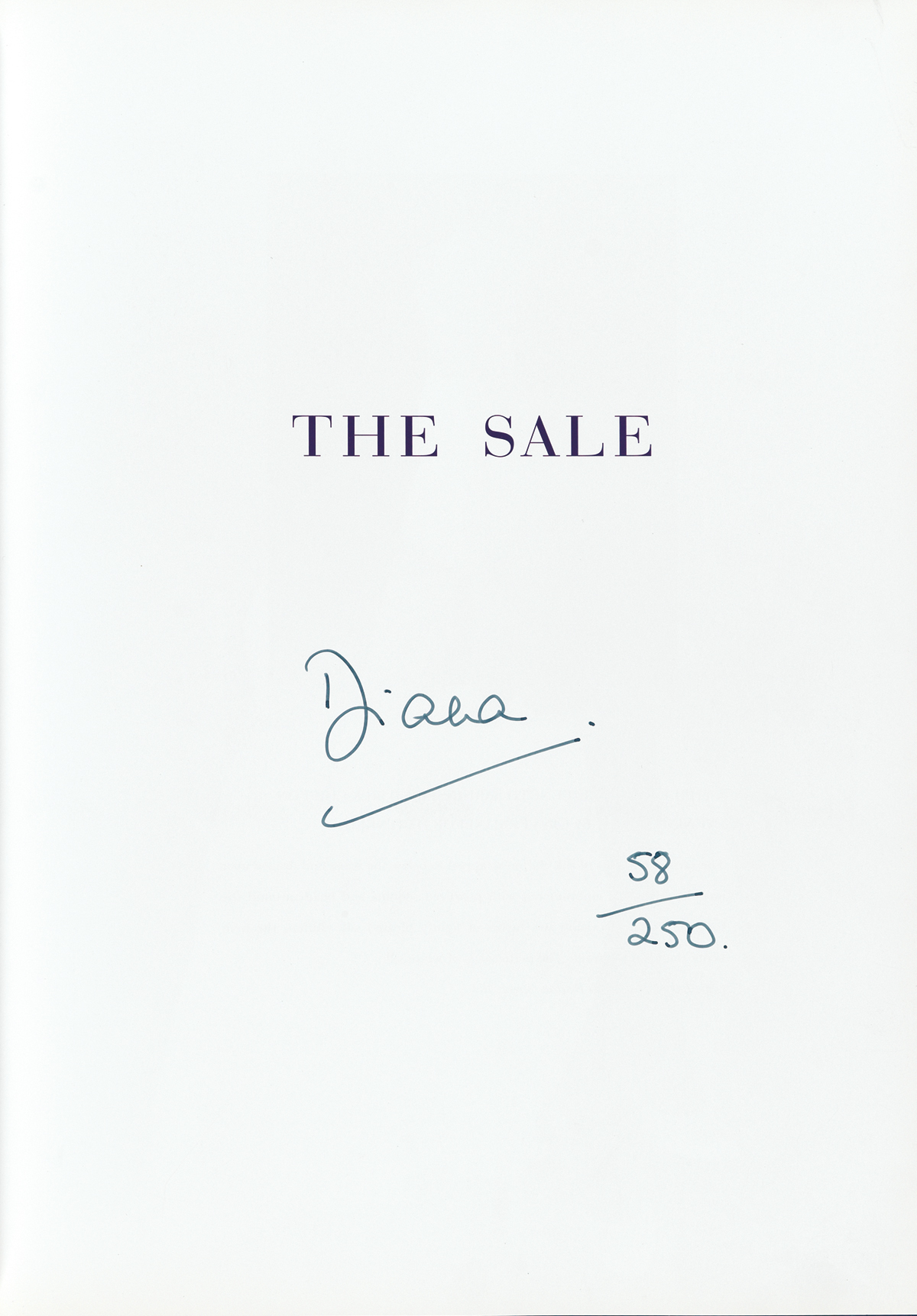 DIANA;-PRINCESS-OF-WALES-Dresses-from-the-Collection-of-Diana-Princess-of-Wales-Signed-Diana-on-the-half-title