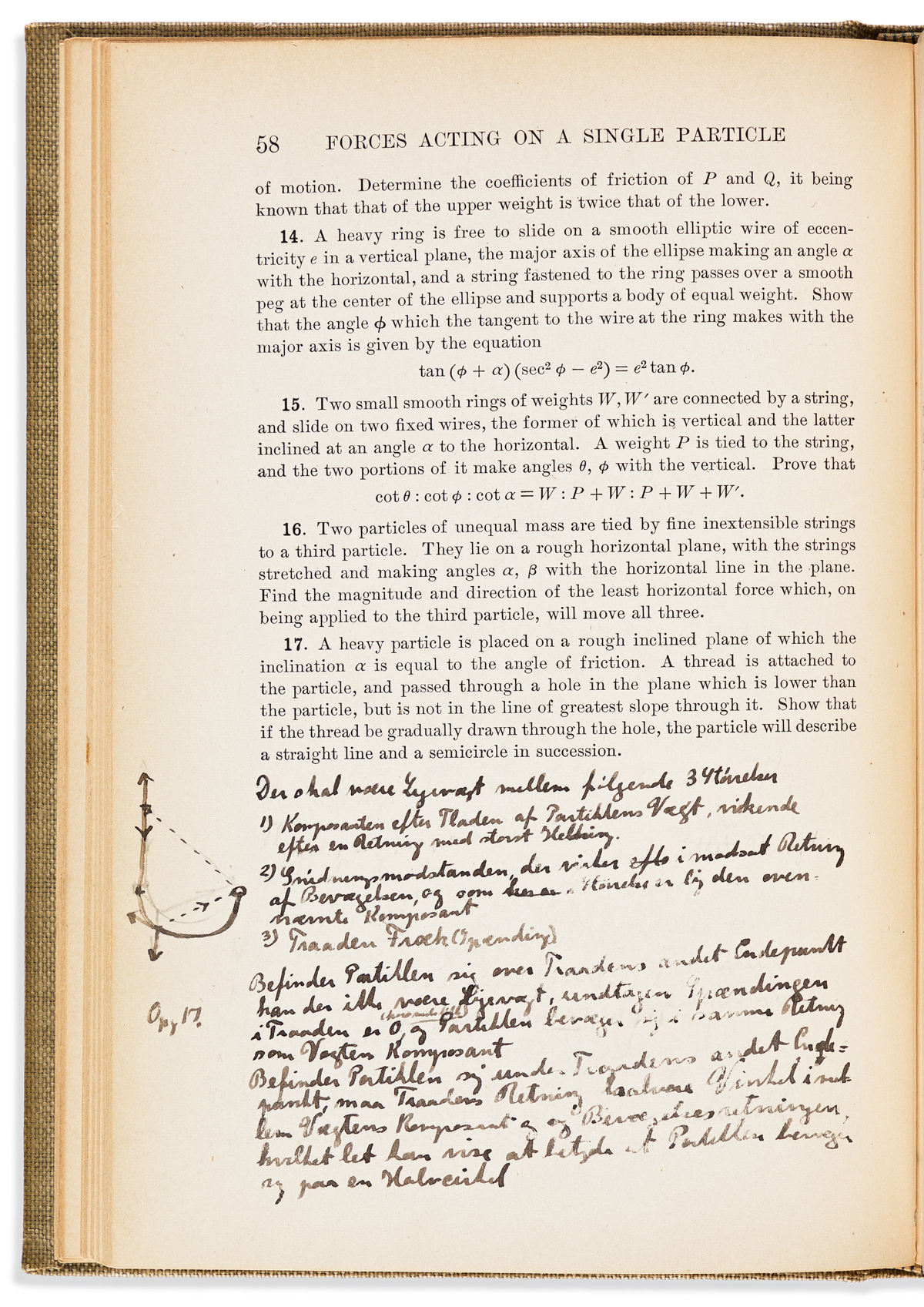 (SCIENTISTS.) BOHR, NEILS. James Hopwood Jeans. An Elementary Treatise on Theoretical Mechanics. Signed on front blank, with a 16-line