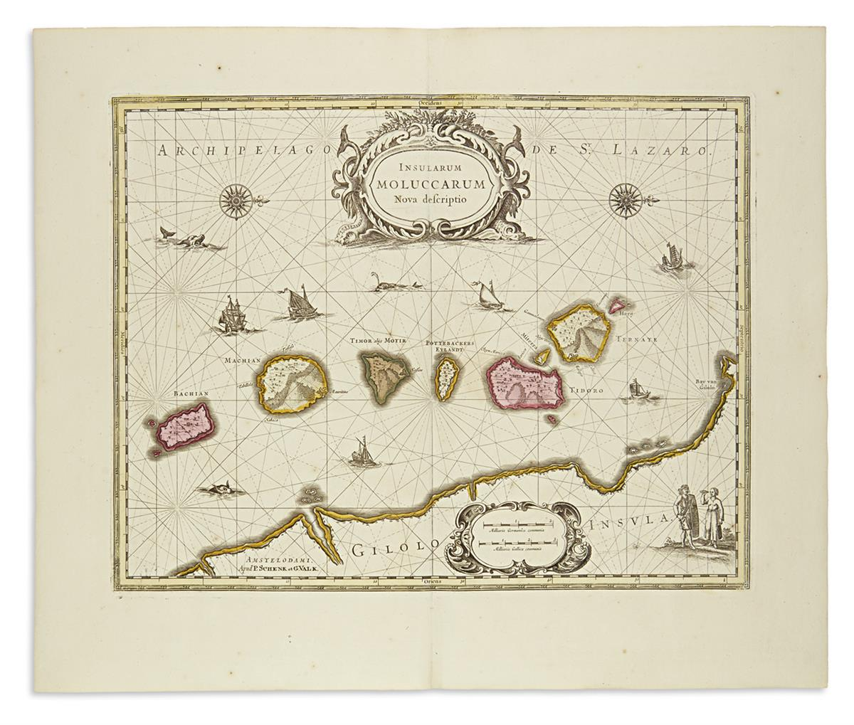 SCHENK-PETER;-and-VALK-GERARD-3-double-page-engraved-maps-wi