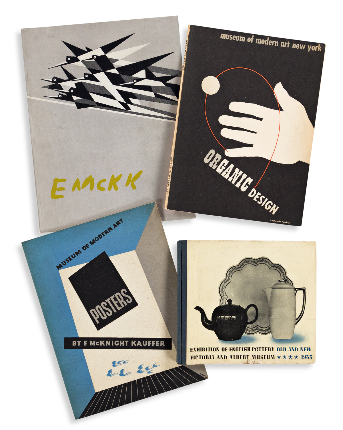 EDWARD MCKNIGHT KAUFFER (1890-1954).  [ART EXHIBITIONS.] Group of 8 pamphlets and booklets. 1930s-50s. Sizes vary.