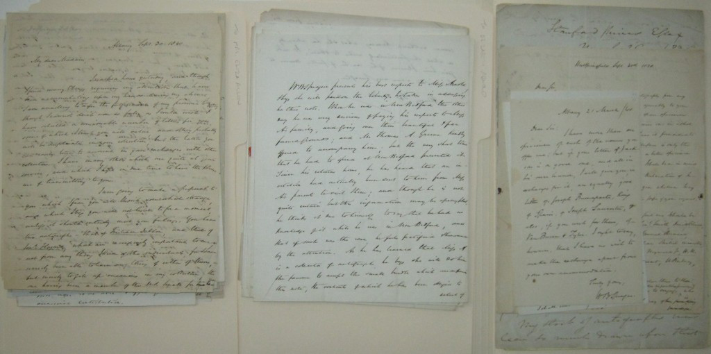 SPRAGUE, WILLIAM BUELL. Collection of 94 Autograph Letters Signed, WBSprague or WBS, to various recipients, on various subjects.