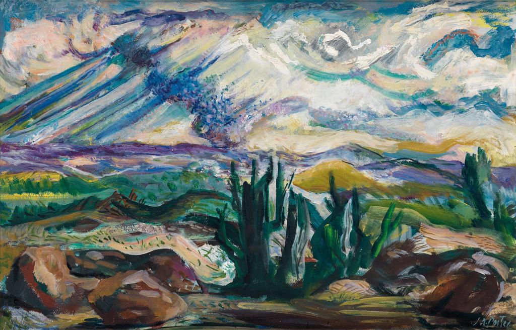 JAMES-A-PORTER-(1905---1970)-Storm-over-Jos-(Nigeria)