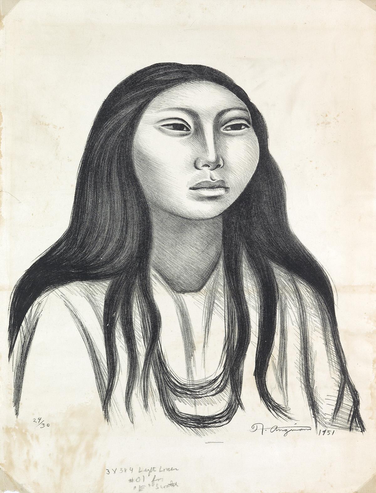 RAÚL-ANGUIANO-Cabeza-de-la-Mujer-(Retrato-de-Na-Kin)
