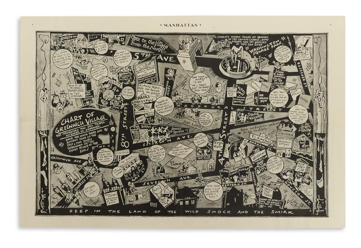 (PICTORIAL-MAP----NEW-YORK-CITY)-Hanley-Frank-Chart-of-Green