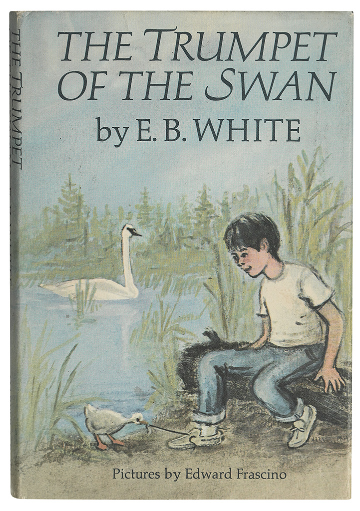 (CHILDRENS-LITERATURE)-White-EB-The-Trumpet-of-the-Swan