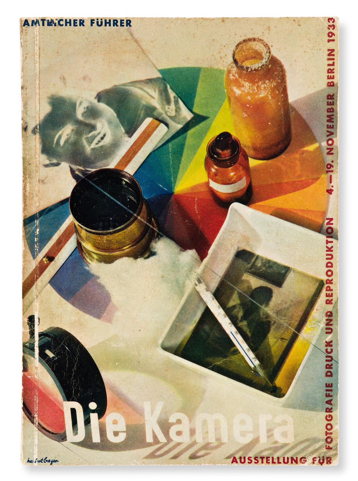 HERBERT BAYER (1900-1985).  DIE KAMERA / AUSSTELLUNG FÜR FOTOGRAFIE. Catalogue. 1933. 8¼x5¾ inches, 21x14½ cm.