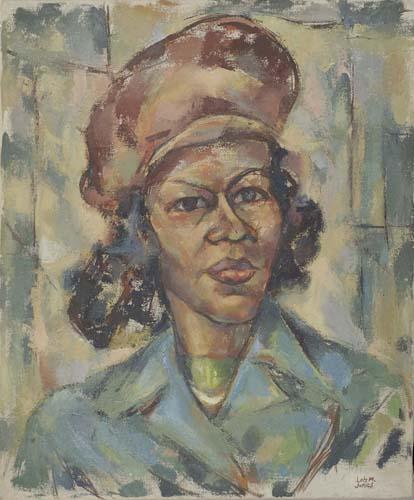 LOIS MAILOU JONES Portrait of a Woman with a Cap.