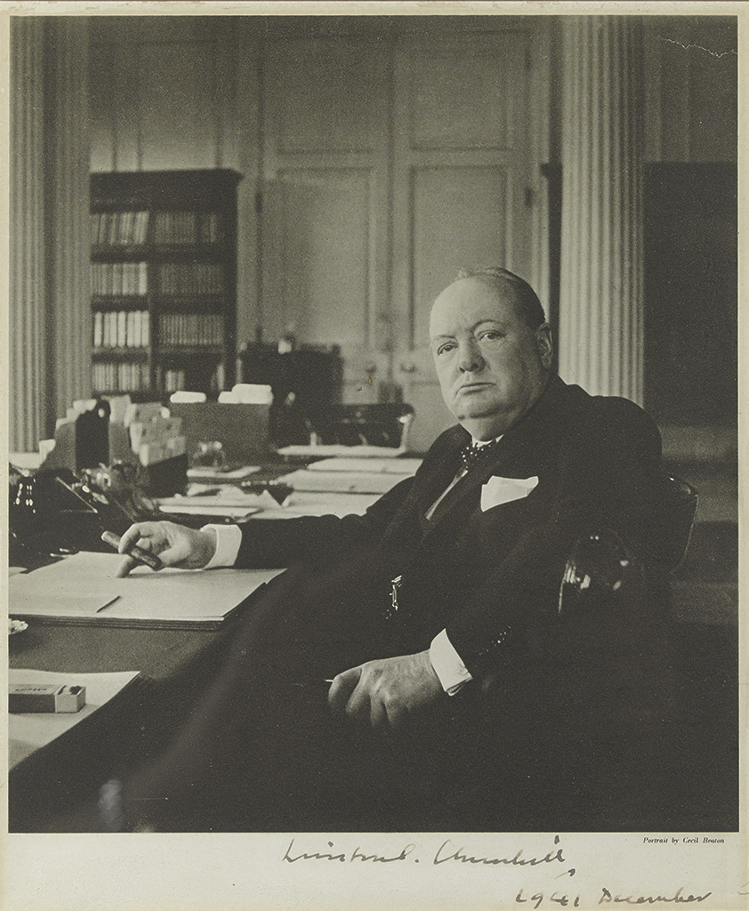 CHURCHILL, WINSTON S. Photograph dated and Signed, as Prime Minister,