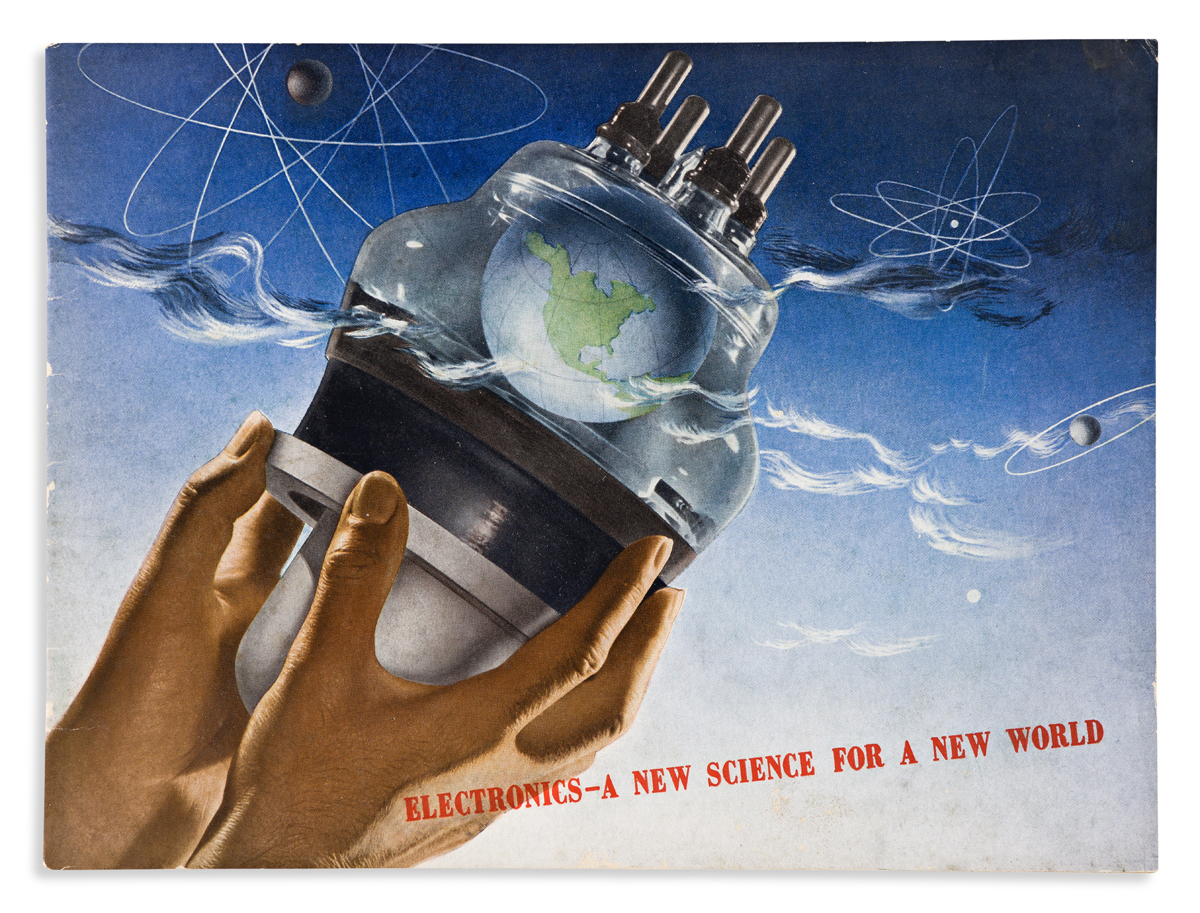 HERBERT BAYER (1900-1985).  G.E. / ELECTRONICS - A NEW SCIENCE FOR A NEW WORLD. Booklet. 1942. 8¼x11 inches, 21x28 cm. General Electric