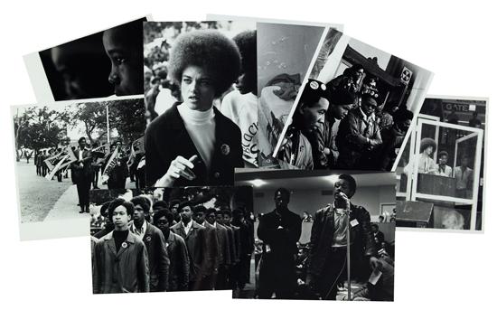 (BLACK PANTHERS.) SHAMES, STEPHEN, ET AL. Group of seven photographs of the Black Panthers.