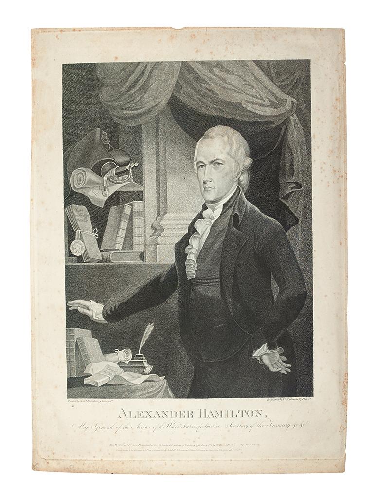 (HAMILTON, ALEXANDER.) Rollinson, William, engraver; after Robertson. Alexander Hamilton, Major General . . . Secretary of the Treasury