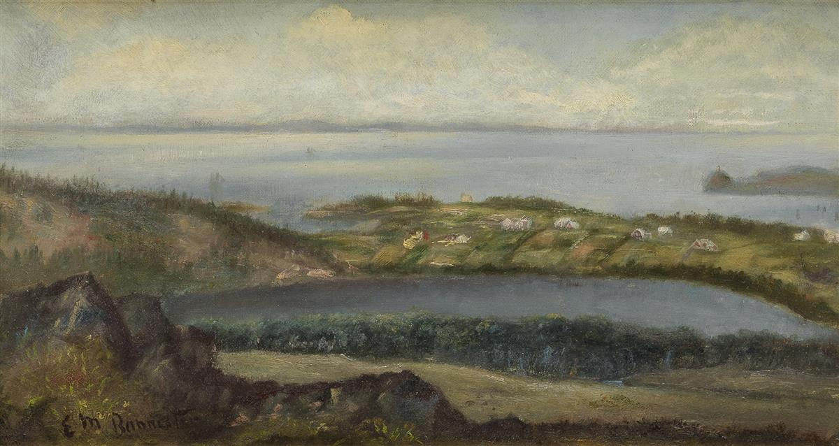 EDWARD-M-BANNISTER-(1828---1901)-Untitled-(Shore-Landscape)