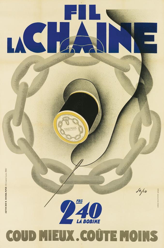 SEPO-(SEVERO-POZZATI-1895-1983)-FIL-LA-CHAINE-1930-59x39-inc