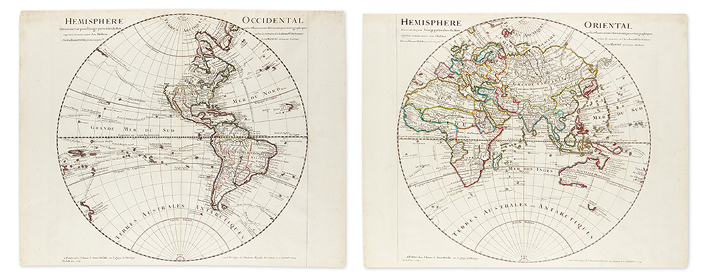 DE-LISLE-GUILLAUME-Hemisphere-Occidental--Hemisphere-Orienta